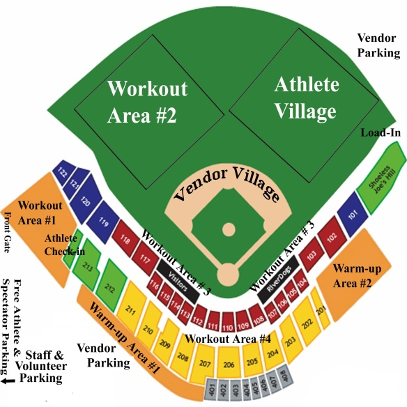 Map of Stadium IR Layout 2013